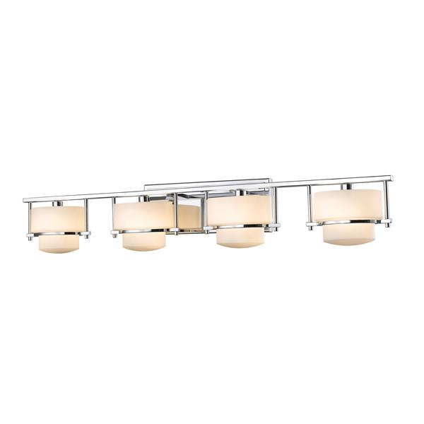 Applique pour salle de bain Porter, 4 lumières, chrome
