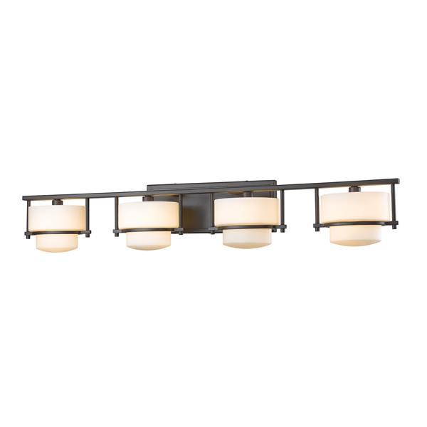 Applique pour salle de bain Porter, 4 lumières, bronze