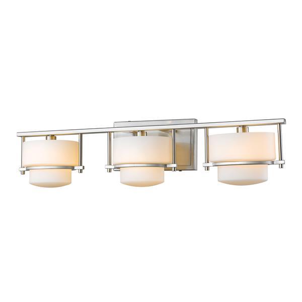 Applique pour salle de bain Porter,3 lumières, nickel brossé