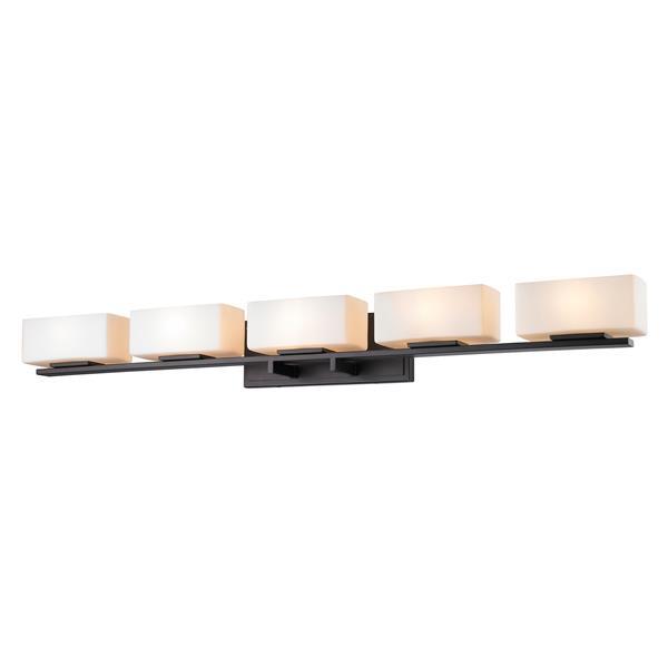 Applique pour salle de bain Kaleb, 5 lumières, bronze