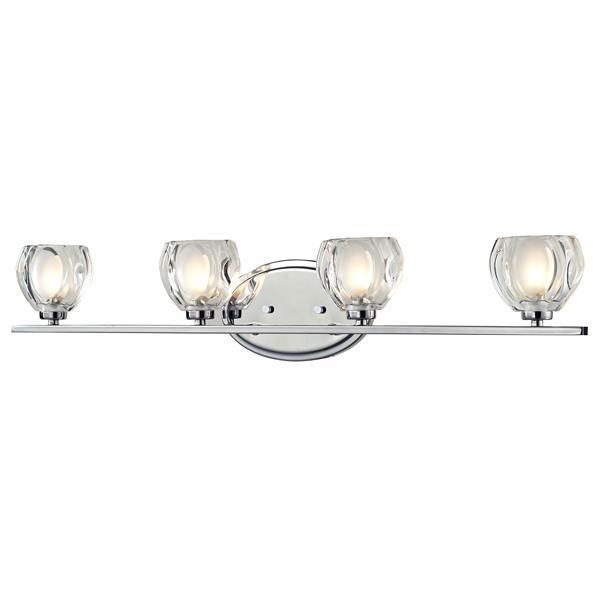 Applique pour salle de bain Hale, 4 lumières, chrome