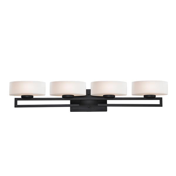 Applique pour salle de bain Cetynia, 4 lumières, bronze