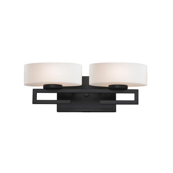 Applique pour salle de bain Cetynia, 2 lumières, bronze