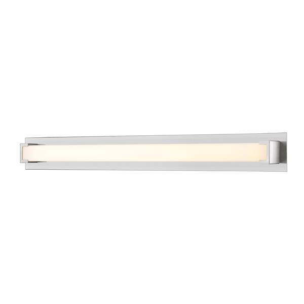 Applique pour salle de bain Elara, 1 lumière, nickel brossé