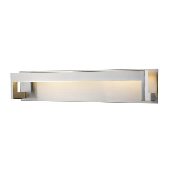 Applique pour salle de bain Linc, 1 lumière, nickel brossé