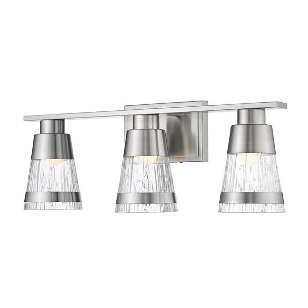 Applique pour salle de bain Ethos, 3 lumières, nickel brossé