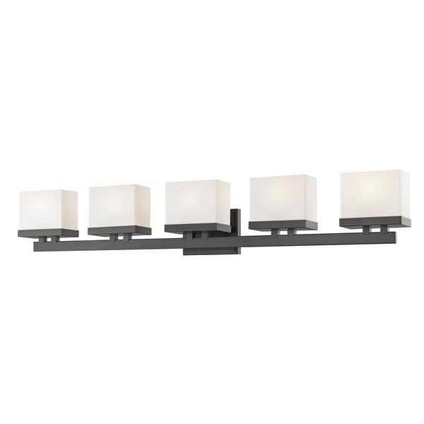 Applique pour salle de bain Rivulet, 5 lumières, bronze