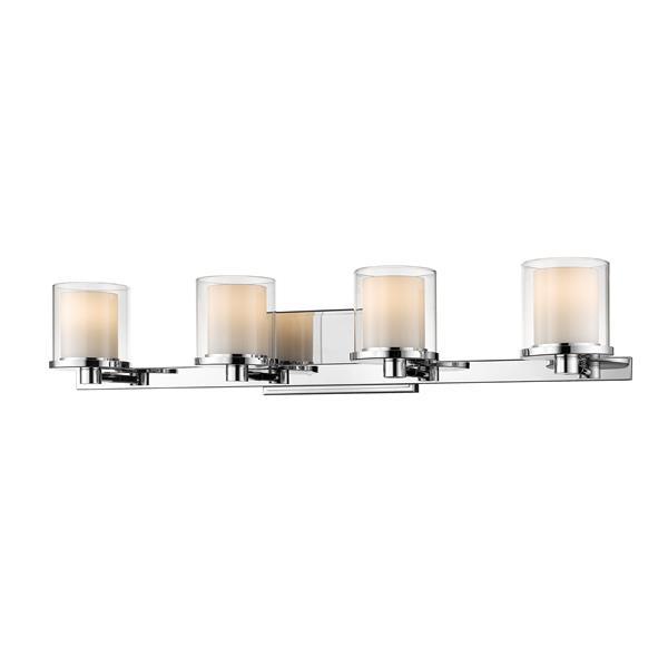 Applique pour salle de bain Schema, 4 lumières, chrome