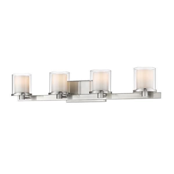 Applique pour salle de bain Schema,4 lumières, nickel brossé