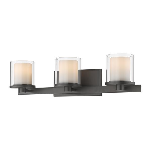 Applique pour salle de bain Schema, 3 lumières, bronze