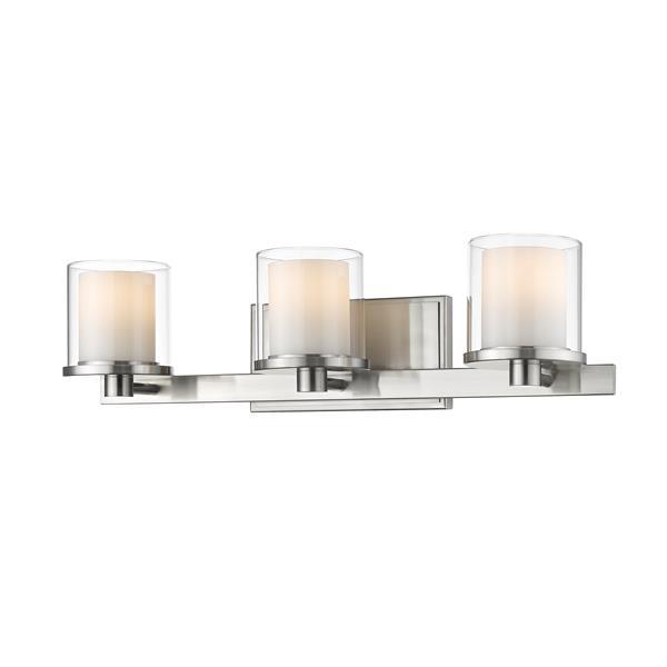 Applique pour salle de bain Schema,3 lumières, nickel brossé