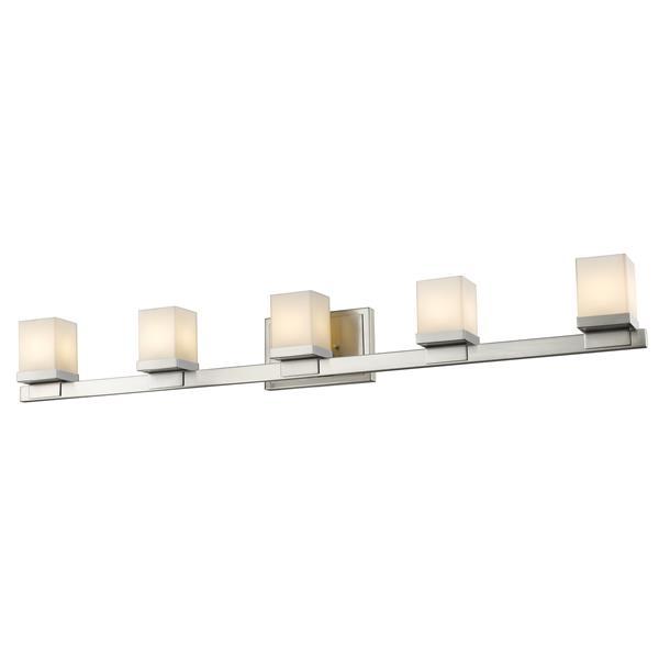 Applique pour salle de bain Cadiz, 5 lumières, nickel brossé