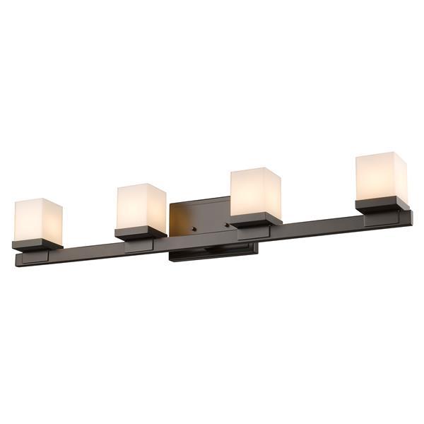 Applique pour salle de bain Cadiz, 4 lumières, bronze
