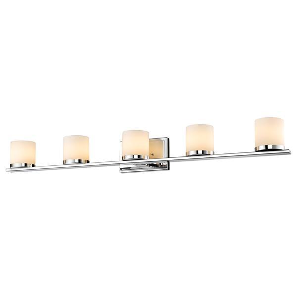 Applique pour salle de bain Nori, 5 lumières, chrome