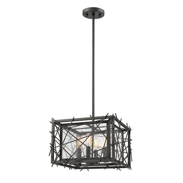 "Luminaire suspendu Stanwood, 4 lumières, 14"", bronze"