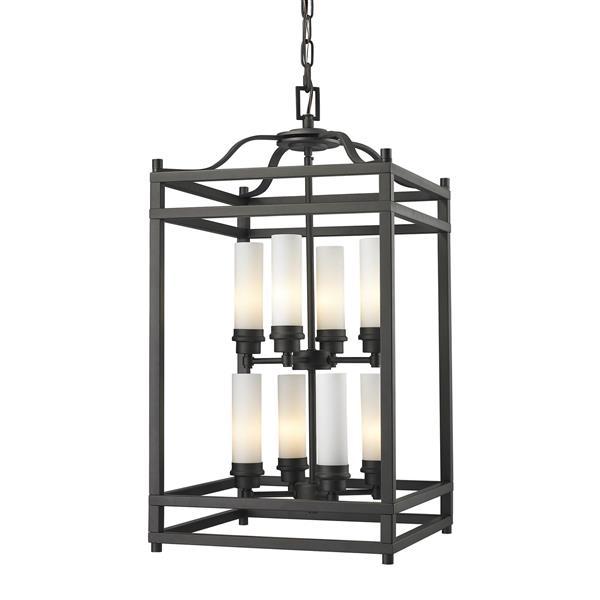 """Luminaire suspendu Altadore, 8 lumières, 15"""", bronze"""