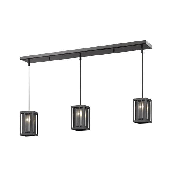 Luminaire de cuisine suspendu Meridional, 3 lumières, bronze
