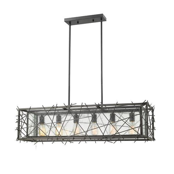 Luminaire de cuisine suspendu Stanwood, 6 lumières, bronze