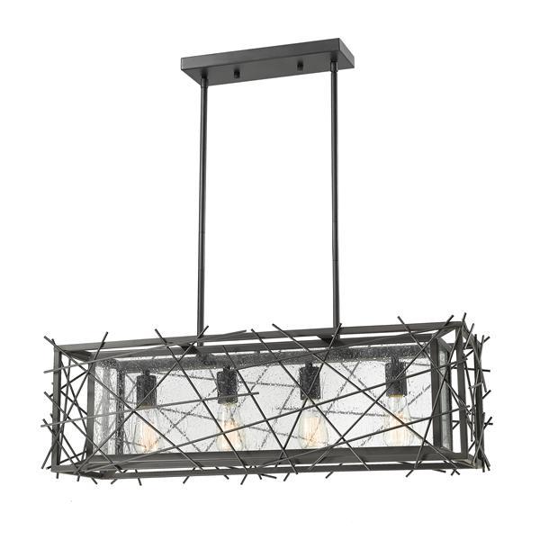Luminaire de cuisine suspendu Stanwood, 4 lumières, bronze