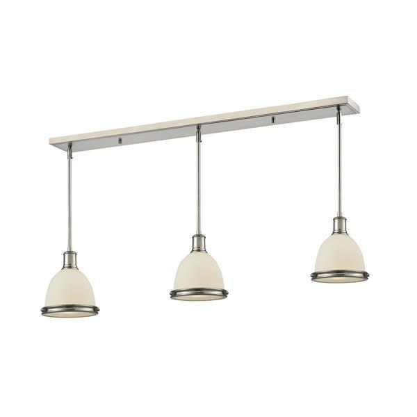 Luminaire de cuisine suspendu Mason, 3 lumières, nickel