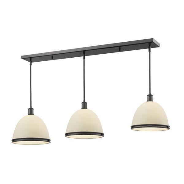 Luminaire de cuisine suspendu Mason, 3 lumières, bronze