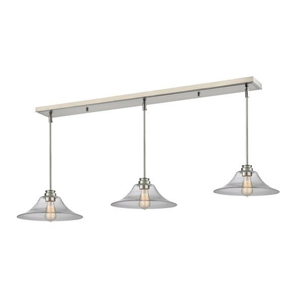 Luminaire de cuisine suspendu Annora, 3 lumières, nickel
