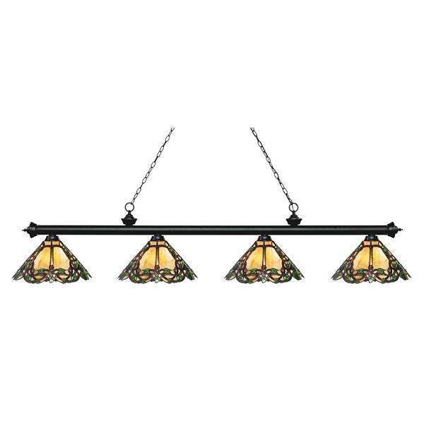 Luminaire de cuisine suspendu Riviera, 4 lumières, noir