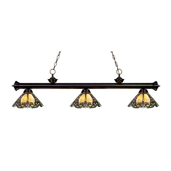 Luminaire de cuisine suspendu Riviera, 3 lumières, bronze