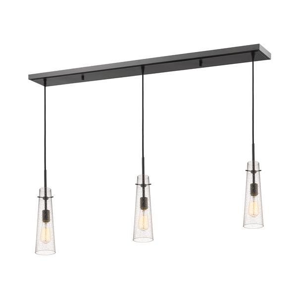 Luminaire de cuisine suspendu Monte, 3 lumières, bronze