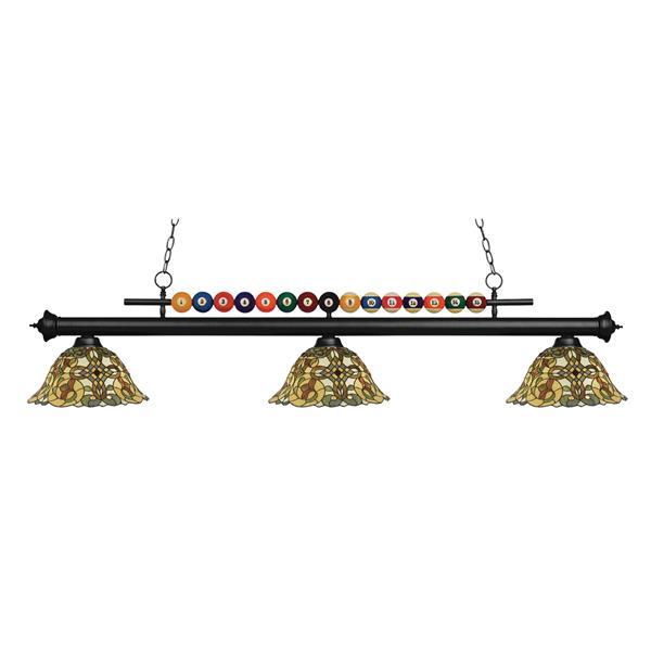 Luminaire pour table de billard Shark, 3 lumières, noir