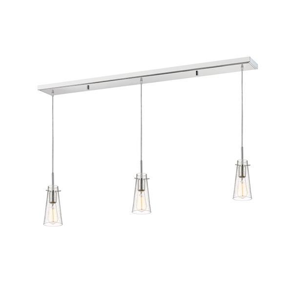 Luminaire de cuisine suspendu Monte, 3 lumières, chrome