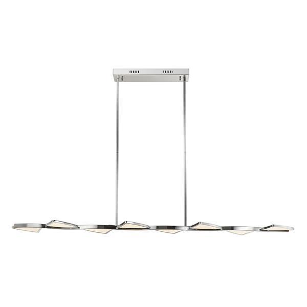 Luminaire de cuisine suspendu Aeon, 1 lumière, chrome