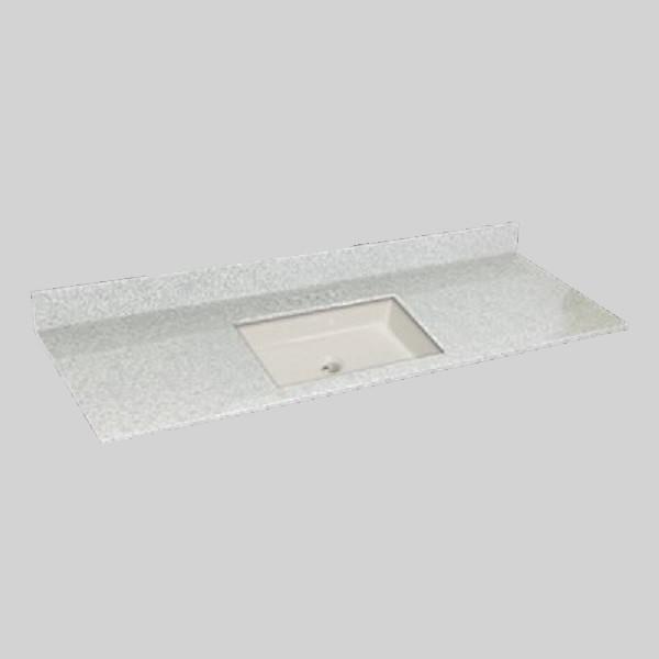 61 pox 22 po Dessus de meuble-lavabo avec vasque carré, brume de willow