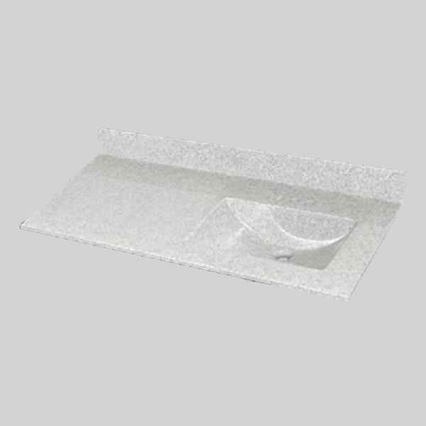 49 pox 22 po Dessus de meuble-lavabo avec bassin integral, brume de willow