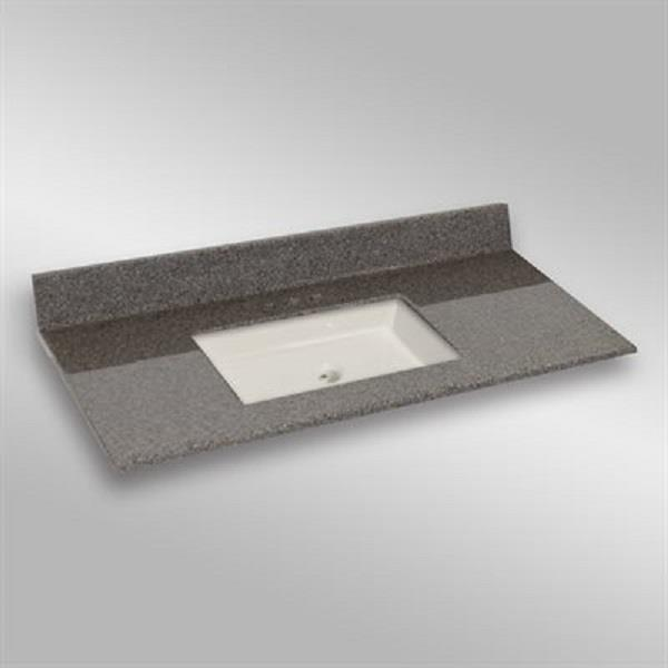 49 pox 22 po Dessus de meuble-lavabo avec bassin sous-monté, pierre carioca