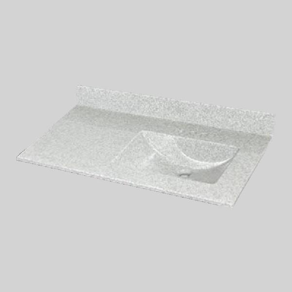 37 pox 22 po Dessus de meuble-lavabo avec bassin integral, brume de willow