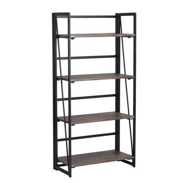 FurnitureR Backer Bookcase with 4 shelves - Unfixed