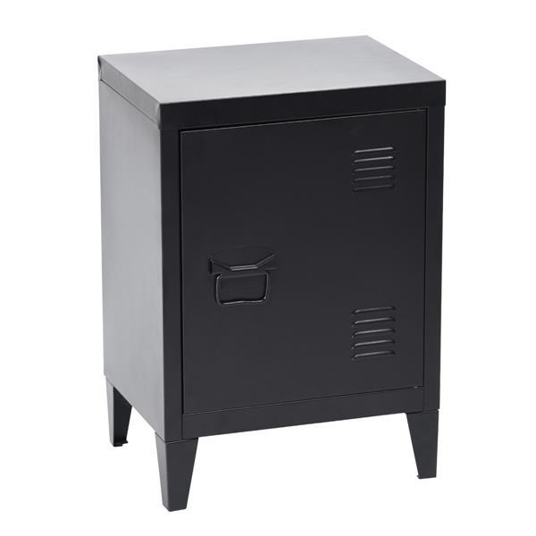Cabinet de rangement Graves Solo, métal noir, 22.6 po