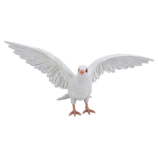"Statue de jardin, pigeon blanc, 9,25"""