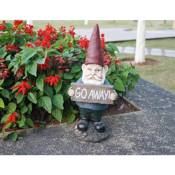 Go Away Gnome Garden Statue Hi-Line Gift Ltd