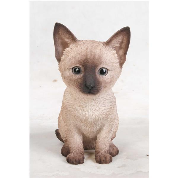 """Statue de jardin, chaton siamois, 7,5"""""""