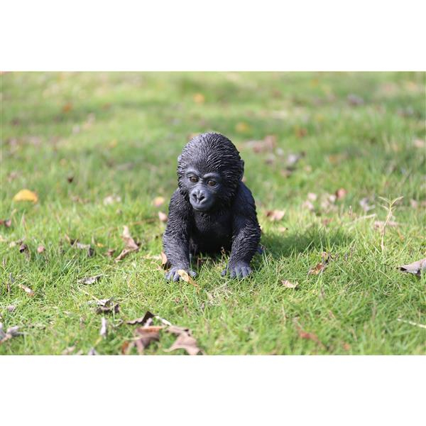 "Statue de jardin, bébé gorille assis, 5,5"""