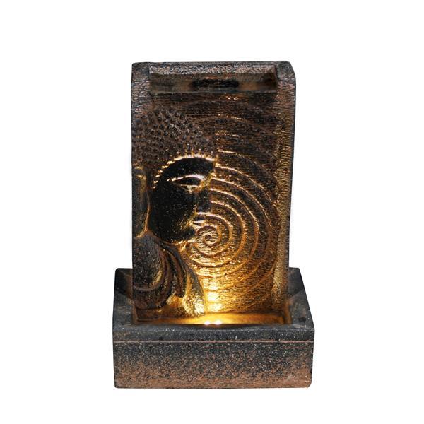 Fontaine de jardin Bouddha, lumière DEL