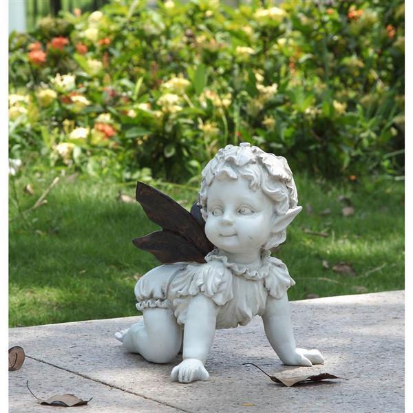 """Statue de jardin, petite fée rampante, 8,5"""""""