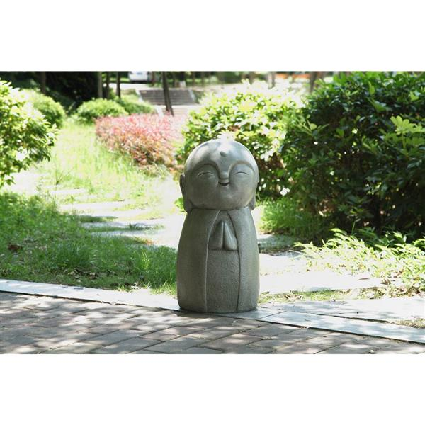 """Statue de jardin, japonais en prière, 24"""""""