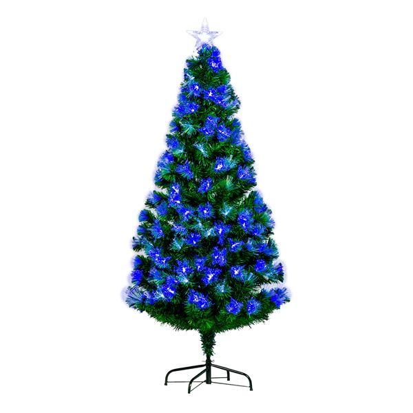 "Hi-Line Gift Christmas Tree - Blue and White Fiber Optic - 72"""