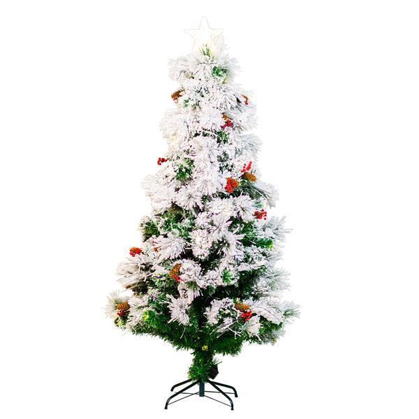 "Hi-Line Gift Christmas Tree - Fiber Optic - White - 72"""