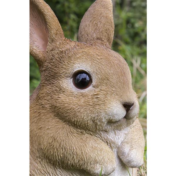 """Statue de jardin, petit lapin joufflu, 6,3"""""""