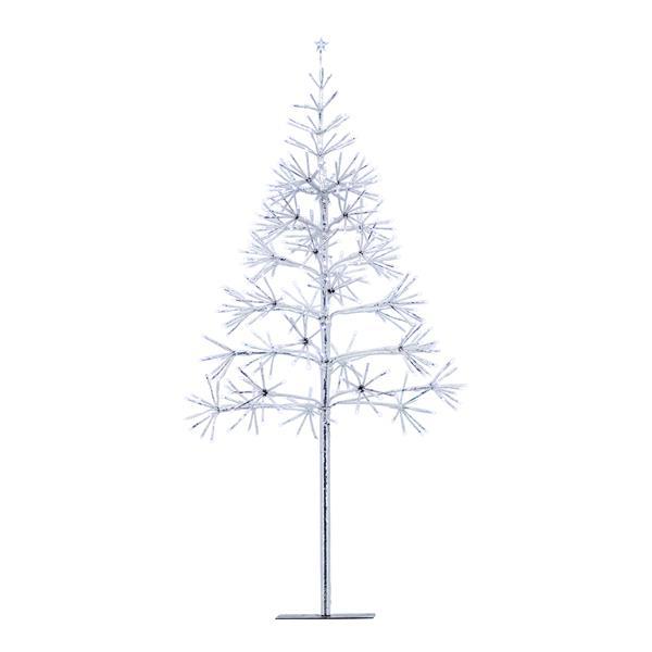 Arbre de Noël argenté, 380 lumières DEL