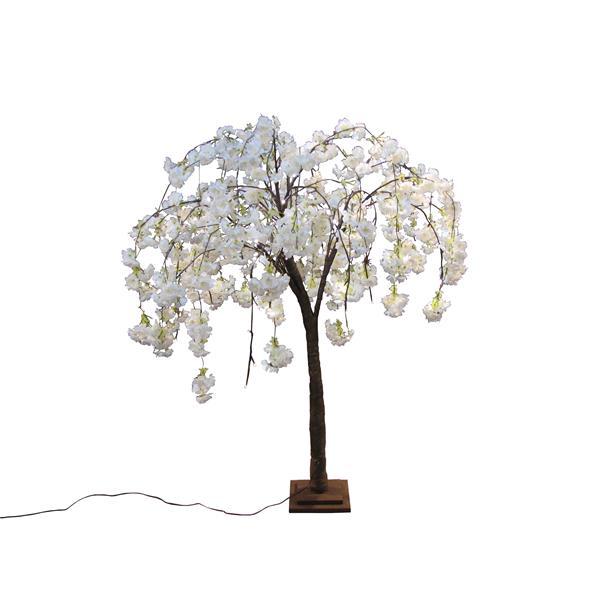 Petit cerisier blanc en fleurs, 66 lumières DEL